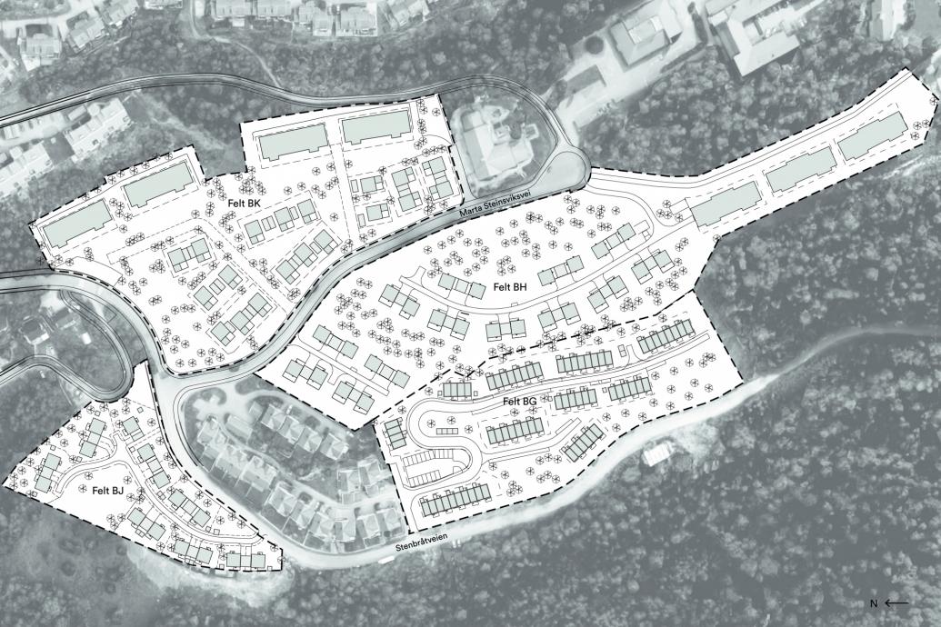 mortensrud kart Mortensrud BG, BH, BJ og BK   Spor Arkitekter mortensrud kart